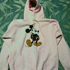 Pink Mickey Mouse Hoodie